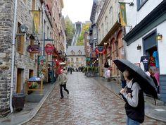 Old Quebec, a place with great wine and poutines.  Un lugar a donde quisiera poder volver algún día, aunque sea por una ocasión.