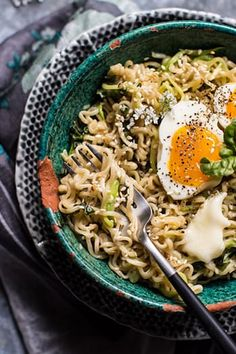 GARLIC BUTTER RAMEN NOODLES -- 10 Instagram-Worthy Dishes to Make Right Now via @PureWow