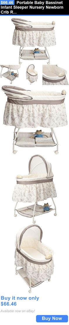 Bassinets And Cradles: Badger Basket Portable Bassinet N Cradle W/ Toybox  Base Baby Nursery Furniture BUY IT NOW ONLY: $82.48 | Pinterest | Baby  Nursery ...