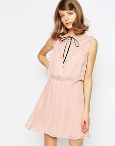 Image 1 of ASOS Frill Front Skater Dress