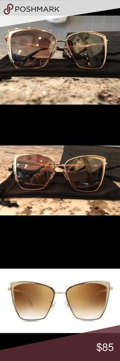 DIFF Sunglasses - Becky DIFF Brand - Becky - Gold frame - Flash Brown Gradient Lenses. Brand new, just tried on. Comes with a sleeve and original shipping box! Diff Eyewear Accessories Sunglasses