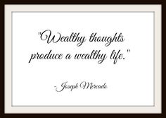 Wealthy Thoughts Produce - Inspirational Wisdom Calligraphy - FREE Instant Digital Download Delivery! by MasterMindWisdom on Etsy