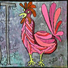 What I Made Today: Chicken Art LOVE
