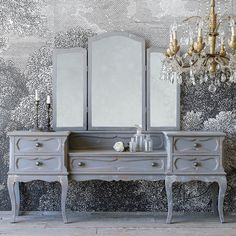 Eloquence One of a Kind Vintage Vanity Muted Gray #laylagrayce