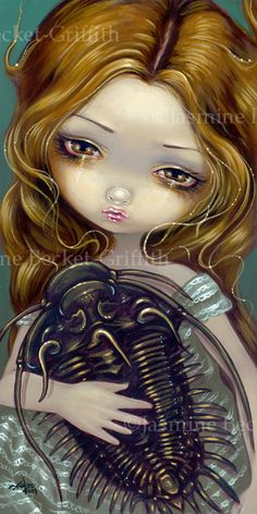 Pet Trilobite prehistoric cambrian fossil fairy art by strangeling, $29.99