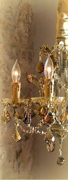 ༺ღ༻Beautiful Gold Chandelier Chandelier Bougie, Chandelier Lighting, Gold Chandelier, Bathroom Chandelier, French Chandelier, Crystal Chandeliers, Antique Chandelier, Antique Lighting, Vintage Accessoires