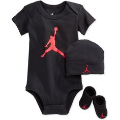Nike Jordan Baby Jumpman Air Body Mütze Socken Booties Infant Jungen Set 0-6 Mon