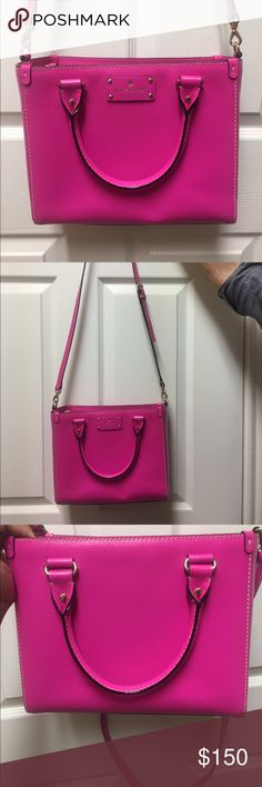 Kate Spade Hand Bag Kate Spade Wellesley hot rose small quinn. Never used! Comes with Kate Spade brown bag. kate spade Bags