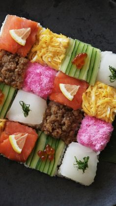 How to make a Mosaic Block Sushi.