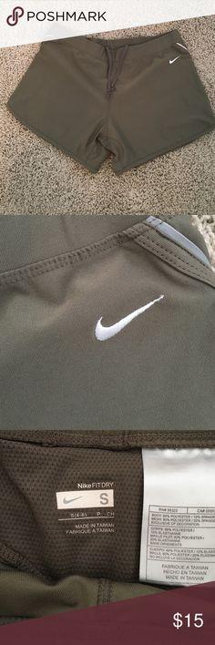 Nike Shorts Nike FIT DRY shorts. Grayish olive color. Like new! Nike Shorts