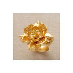 VERMEIL LOTUS IN BLOOM RING - Rings - Jewelry | Robert Redford's... ($198) via Polyvore