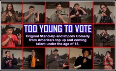 TOO YOUNG TO VOTE APRIL 22 #Improv #Comedy by Kids & Teens  http://improv4teens.org/learn-to-improvise/too-young-to-vote/