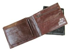 etsy  CHOCOLATE BROWN  men's leather wallet No.314 by AmielLeatherDesign, $47.00