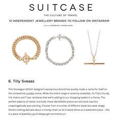 c799419e4f5 SUITCASE MAGAZINE - Tilly Sveaas Jewellery March 12th, Arrow Necklace, Gold  Necklace, Suitcase