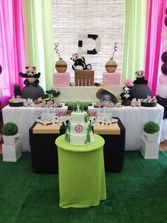 Fun panda girl birthday party!  See more party ideas at CatchMyParty.com!