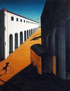 """Giorgio de Chirico, """"Mystery and Melancholy of a Street"""", 1914."""