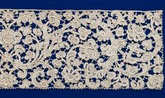 ITALY Border (mid 17th century) linen (needle lace) (gros point) (bobbin lace) National Gallery of Victoria, Melbourne