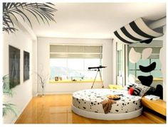 black-and-white-teenage-girl-bedroom-11.jpg (1440×1098)