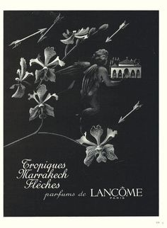 1949 LANCOME PERFUME AD Original French Magazine Advert / Print CUPID (10370)