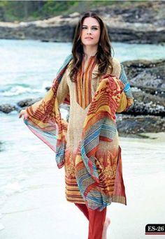 Gul Ahmed Eid Lawn Prints 2013 Summer Dresses Design  (7)