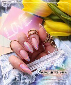 Trendy Nail Art, Stylish Nails, Pastel Pink Nails, Natural Looking Nails, Cute Summer Nail Designs, London Nails, Gem Nails, Ombre Nail Designs, Striped Nails