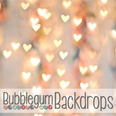 Bokeh Hearts  Vinyl Photography Backdrop by BubblegumBackdrops, $9.00