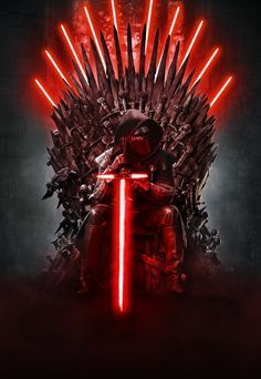 Star Wars Game of Thrones | Iron throne made from light sabers #gameOfThrones #starWars geek