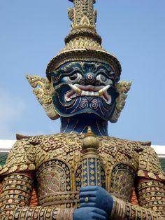 Bangkok, Thailand. Guarding the palace.