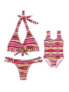 Sports & Entertainment Realistic Family Matching Women Kid Baby Girl Bowknot Bikini Set Halter Striped Swimwear Swimsuit Outfits Bathing Swimming Beachwear 2pcs Selected Material