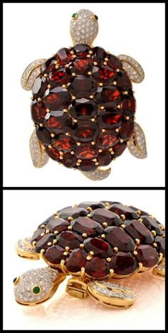 I think this c. 1970 #gold turtle brooch is as... | Diamonds in the Library