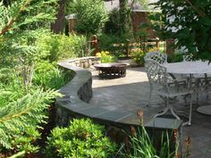 Seating wall with paver patio