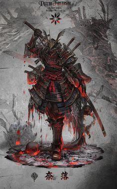 Arte de samurai Nail Desing e-art nail design budapest Ninja Kunst, Arte Ninja, Ninja Art, Fantasy Armor, Dark Fantasy Art, Fantasy Samurai, Fantasy Character Design, Character Art, Samurai Wallpaper
