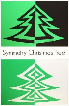 Symmetry Christmas Tree Art Project for Kids: Fun way to combine art and math! ~ BuggyandBuddy.com