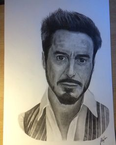 Robert Downey Jr. portrait  #art #portrait #robertdowneyjr #drawing #artwork