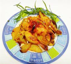 Рецепт приготовления французских курочек или цыплят с эстрагоном, апельсиновым мармеладом и чесноком
