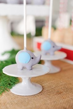 Elephant Baby Shower Ideas | Boy, Blue, Gray | Food | Cake Pops