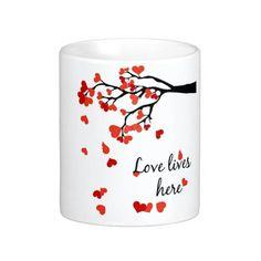 lovers Falling heart tree mug