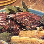 Pork Spareribs with Maple Barbecue Sauce, Recipe Going to try this on the grill today.
