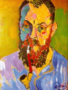 Fauvism - one of my favorite movements in painting (Portrait of Matisse, 1905, oil on canvas, Private Collection,  Fauvism, Andre Derain (1880-1954)
