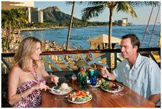 A favorite restaurant in Waikiki Beach, Hawaii. Right on the beach above Duke's restaurant.  We enjoyed going there when we lived in Makiki and Pearl Harbor. Very romantic :o)