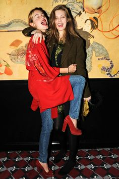 Camille Rowe and Lindsey Wixson.
