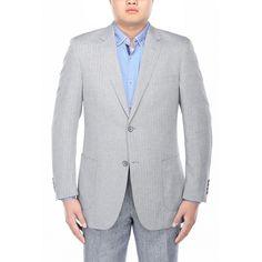 Verno Filippo Men's Textured Classic Fit Italian Styled Blazer