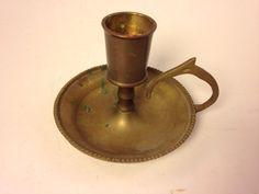 Vintage Handmade Solid Brass Candle Holder. EBSVintageHome