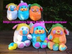 I loved the Popples too. In fact, I have that orange Popple that is on the far right there--I gave it to my daughter. Had it since I was wee little. My Childhood Memories, Childhood Toys, Sweet Memories, Baby Gaga, I Remember When, Cartoon Tv, Good Ole, Ol Days, Toys
