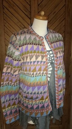 Vintage kaffe Fassett Hand Knit Cardigan Rowan Yarns Size M/L 12-14 | eBay