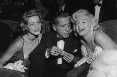 Humphrey Bogart & Lauren Bacall | Lauren Bacall Humphrey Bogart And Marilyn Monroe The Premiere