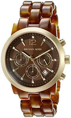 Michael Kors Womens Audrina Brown Watch MK6235 -- Click on the image for additional details.