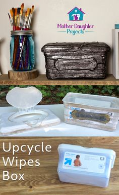 Upcycle Baby Wipes Box. MotherDaughterProjects.com