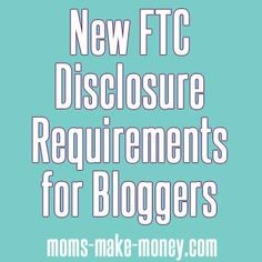 Read the new FTC disclosure guidelines for bloggers. You could be at  risk of prosecution if you don't disclose clearly and conspicuously.