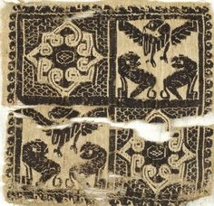 6-7th c. Coptic flax and wool textile (5 11/16 in. sq.) - Brooklyn Museum 41.793